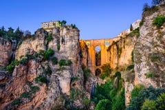 Ponte di Puente Nuevo a Ronda, Spagna immagini stock libere da diritti