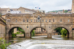 Ponte di Pulteney. Bagno, Inghilterra Fotografia Stock Libera da Diritti