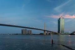 Ponte di Rama IX, Bangkok Immagini Stock