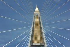 Ponte di Rama 8 in Tailandia Fotografia Stock Libera da Diritti