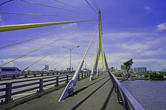 Ponte di Rama VIII a Bangkok Immagini Stock Libere da Diritti