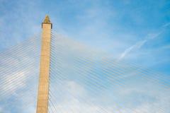 Ponte di Rama VIII, ponte sopra Chao Phraya River a Bangkok Fotografie Stock