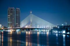 Ponte di Rama VIII in Tailandia Fotografia Stock Libera da Diritti