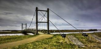 Ponte di re Hans vicino a Skjern, Danimarca Fotografie Stock Libere da Diritti
