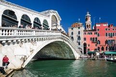 Ponte di Rialto, Venedig Fotografering för Bildbyråer