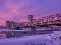 Ponte di riconciliazione, Calgary Alberta Immagini Stock