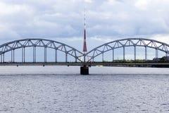Ponte di Riga Fotografia Stock Libera da Diritti