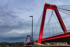 Ponte di Rotterdam, dei Paesi Bassi e di Willem nel pomeriggio immagini stock libere da diritti