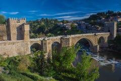 Ponte di San MartÃn - Toledo, Spagna Immagine Stock