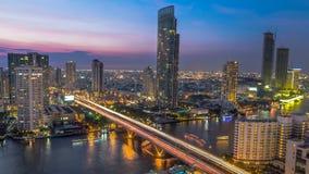 Ponte di Saphan Taksin a Bangkok thailand immagine stock libera da diritti