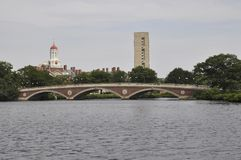 Ponte di settimane di John W sopra il fiume Charles nello stato di Massachusettes di U.S.A. Fotografia Stock