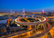 Ponte di Shanghai Nanpu Immagine Stock Libera da Diritti