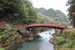 Ponte di Shinkyo, Nikko Fotografie Stock Libere da Diritti