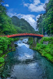 Ponte di Shinkyo o ponte sacro a Nikko, Giappone fotografia stock libera da diritti