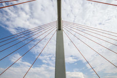Ponte di Siekierkowski Fotografie Stock Libere da Diritti