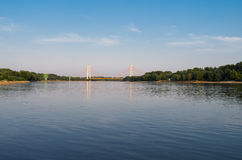 Ponte di Siekierkowski a Varsavia Fotografie Stock Libere da Diritti