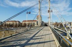 Ponte di Simonas Daukantas a Kaunas, Lituania Fotografia Stock Libera da Diritti