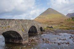 Ponte di Sligachan sull'isola di Skye Immagini Stock