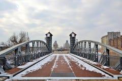 Ponte di sollevamento storico di Magdeburger Fotografia Stock Libera da Diritti