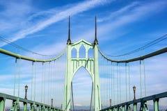Ponte di St Johns a Portland, Oregon fotografia stock libera da diritti