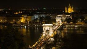 Ponte di Szechenyi a Budapest Ungheria Bello ponte sopra il Danubio video d archivio