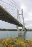 Ponte di Tarascon fra Beaucaire e Tarascon, Francia Fotografia Stock Libera da Diritti