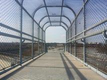 Ponte di traccia della parete dell'inondazione Fotografia Stock Libera da Diritti
