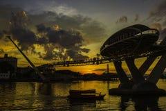 Ponte di tramonto Immagini Stock Libere da Diritti
