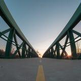 Ponte di tramonto immagine stock