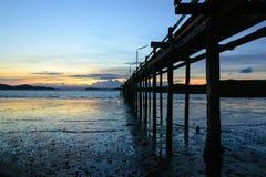Ponte di tramonto Fotografia Stock