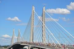 Ponte di transito pubblico di Tillicum Crossiing, Portland, Oregon immagini stock