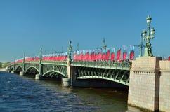 Ponte di Troitsky a St Petersburg fotografie stock libere da diritti