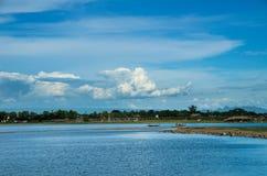 Ponte di U-bein e lago Taungthaman Immagini Stock Libere da Diritti