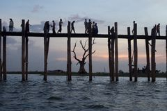 Ponte di Ubein Fotografie Stock Libere da Diritti