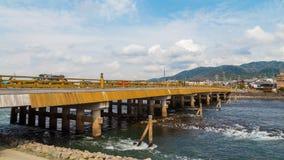 Ponte di Uji a Kyoto Fotografia Stock Libera da Diritti