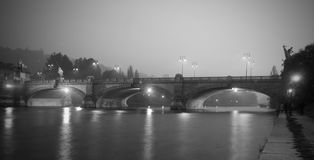 Ponte di Umberto I a Torino Italia Fotografia Stock Libera da Diritti