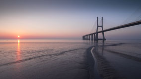 Ponte di Vasco da Gama fotografie stock