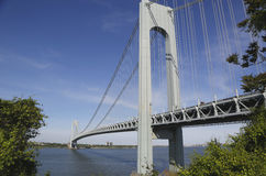 Ponte di Verrazano a New York Fotografia Stock Libera da Diritti
