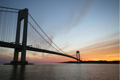 Ponte di Verrazano a New York Immagine Stock Libera da Diritti