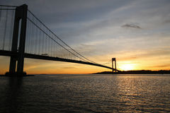 Ponte di Verrazano a New York Fotografie Stock Libere da Diritti