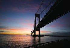 Ponte di Verrazano a New York Fotografia Stock