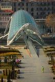 Ponte di vetro di Tbilisi Immagini Stock
