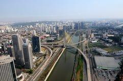 Ponte di vio Frias de Oliveira del ¡ di Octà - ponte di Estaiada immagini stock libere da diritti