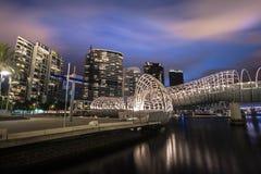 Ponte di web di Melbourne Immagini Stock