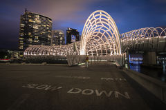 Ponte di web di Melbourne Immagine Stock Libera da Diritti
