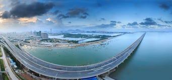 Ponte di Xiamen Xinglin, Cina fotografia stock