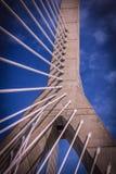 Ponte di Zakim a Boston immagini stock libere da diritti