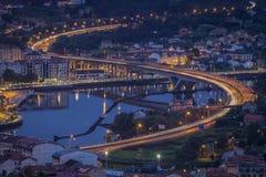 Ponte a Dinamarca Ria Pontevedra Galicia Spain Imagem de Stock