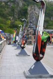 Ponte in Dinant Immagine Stock