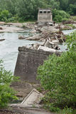 Ponte distrutto Fotografia Stock Libera da Diritti
